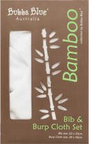 Bubba Blue Bamboo Bib & Burp Pad