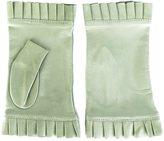 Gala fingerless frilly gloves