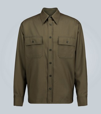 Marni Long-sleeved wool shirt
