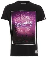Supremebeing Festival Print T-shirt, Black