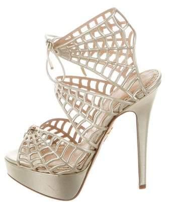 Charlotte Olympia Metallic Web Sandals