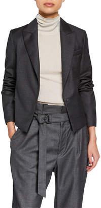 Brunello Cucinelli Lightweight Wool Short Blazer