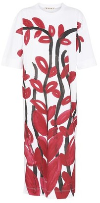 Marni Short sleeves flower print midi dress