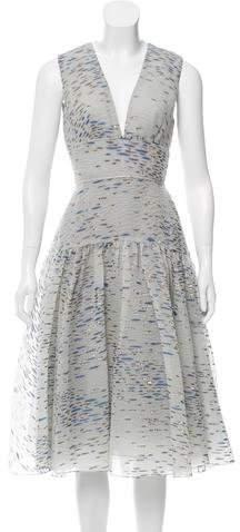 Lela Rose Sleeveless Brocade Dress w/ Tags