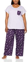 Evans Women's Cloud Print Pyjama Sets