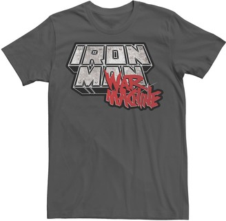 Marvel Men's Iron Man War Machine Steel Logo Tee