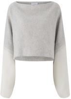Amanda Wakeley Kuki Ecru Kimono Sleeve Sweater