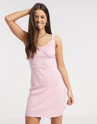 Fashion Union bodycon mini dress with rose detail