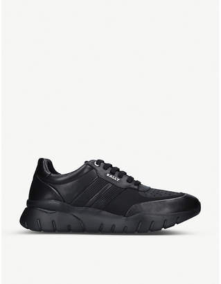 Bally Bison leather trainers