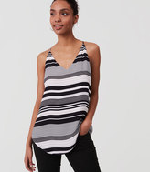 LOFT Mixed Stripe Strappy Cami