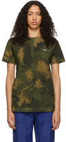 Off-White Off White Green Paintbrush Camouflage T-Shirt