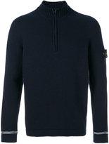 Stone Island zip up roll neck jumper - men - Wool/Polyimide - S