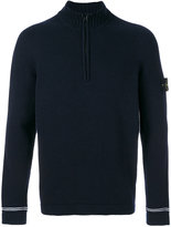 Stone Island zip up roll neck jumper