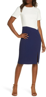 Harper Rose Ella Colorblock Crepe Sheath Dress