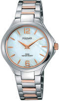 Pulsar Ladies Night Out Womens Rose Gold Two-Tone Bracelet Watch