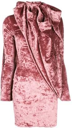 Y/Project asymmetric velvet dress