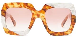 Gucci Square Tortoiseshell-effect Acetate Sunglasses - Womens - Tortoiseshell