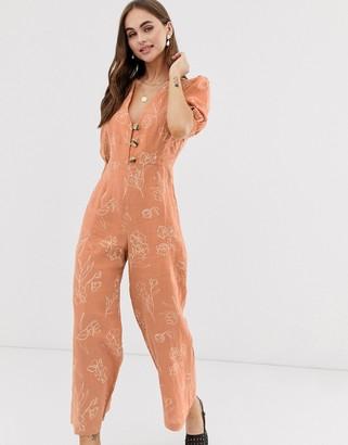 Capulet Isalina long sleeve jumpsuit-Orange