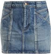 Saint Laurent Multi-seam denim skirt