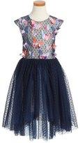 Halabaloo Dot Butterfly High/Low Dress (Toddler Girls, Little Girls & Big Girls)
