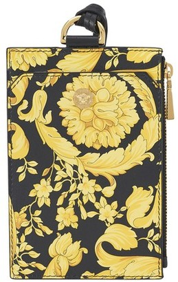 Versace Barocco leather card case