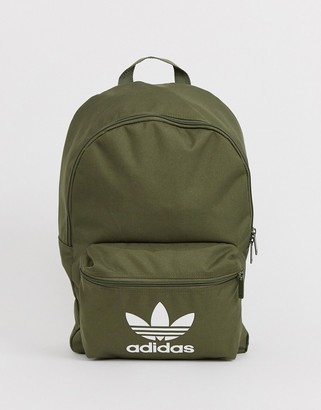 adidas logo backpack in khaki