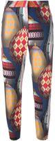 MSGM ballon print trousers - women - Cotton - 40