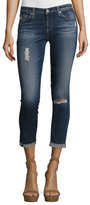 AG Jeans The Stilt Roll-Up Cropped Jeans, 4 Years Destroyed