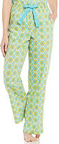 Sleep Sense Tile-Print Poplin Sleep Pants