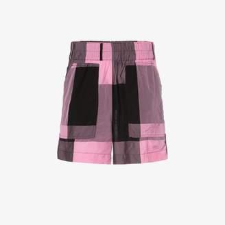 Ganni Gingham print shorts
