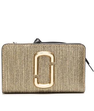 Marc Jacobs metallic Snapshot wallet