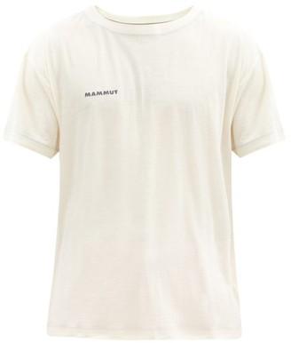 Mammut Delta X - Uetliberg Wool-blend Jersey T-shirt - White