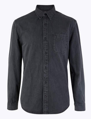Marks and Spencer Pure Cotton Authentic Denim Shirt