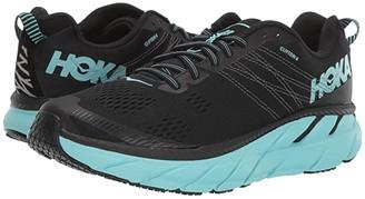 Hoka One One Clifton 6 (Black/Aqua Sky) Women's Running Shoes