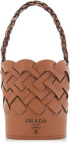 Prada Woven Leather Top Handle Bag