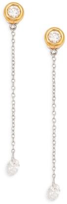 Lafonn Goldplated Sterling Silver & Simulated Diamond Drop Earrings