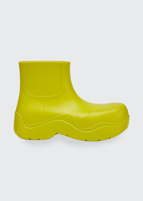 Bottega Veneta Chunky Rubber Rain Booties