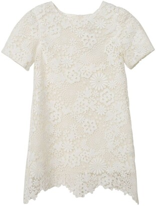 Charabia Floral Lace Dress (3-14 Years)