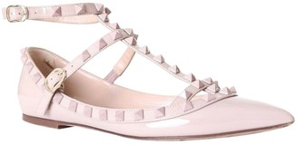 Valentino Rockstud Pink Patent leather Ballet flats