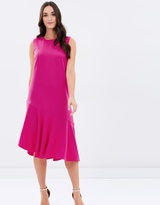 Warehouse Ruffle Hem Dress