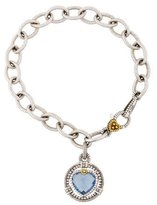 Judith Ripka Synthetic Blue Quartz & Diamond Athena Charm Bracelet