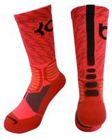 Nike Mens KD Hyper Elite Basketball Socks (Size 6-8) Crimson, Black