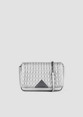 Emporio Armani Mini Cross-Body Bag With Quilted Front And Triangular Fastening