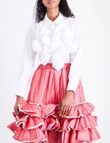 Comme des Garcons Ruffled cotton-poplin shirt
