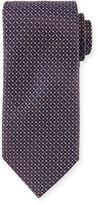 Ermenegildo Zegna Neat Micro Geo-Print Silk Tie