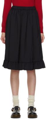 COMME DES GARÇONS GIRL Navy Ruffle Hem Midi Skirt