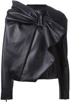 Viktor & Rolf Large bow leather jacket