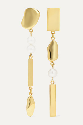 MEADOWLARK Thea Gold-plated Pearl Earrings - one size