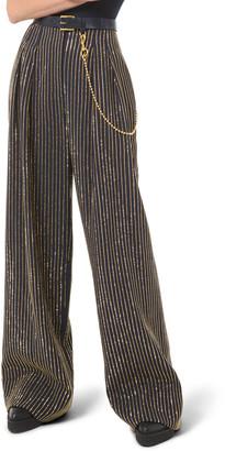 Michael Kors Crystal Pinstripe Wide-Leg Pants