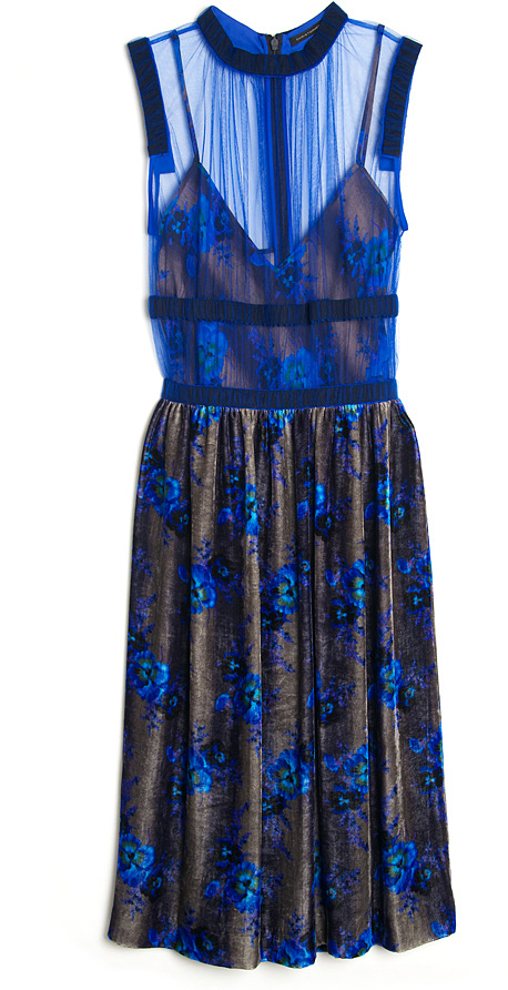 Christopher Kane Velvet Sheer Dress